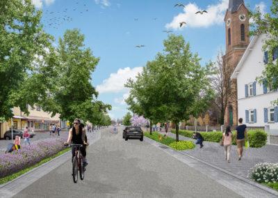Urbanes Zentrum in Königsbrunn –  Die Straße als historisches Element