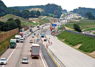 Autobahn A8 zwischen Ulm und Augsburg
