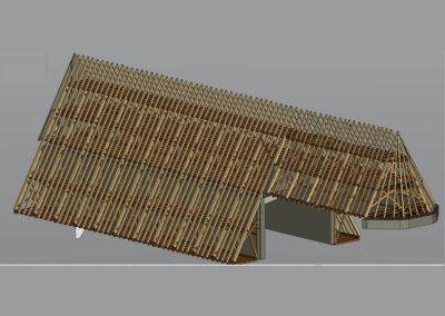 3D – Modell für den Dachstuhl der Kirche Mariä Himmelfahrt Höchstädt