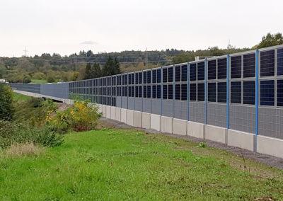 Pilotprojekt an der A3 bei Aschaffenburg – bundesweit einmalige Lärmschutzwand mit Photovoltaik-Elementen